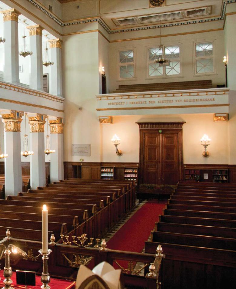 Synagogen set indefra